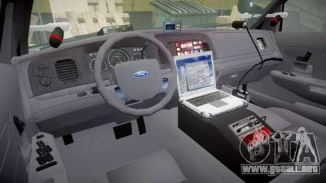 Ford Crown Victoria Highway Patrol [ELS] Liberty para GTA 4 vista hacia atrás