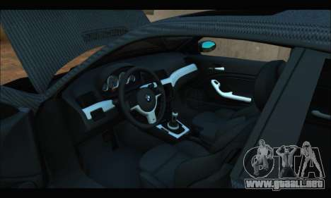 BMW M3 E46 Carbon para la visión correcta GTA San Andreas