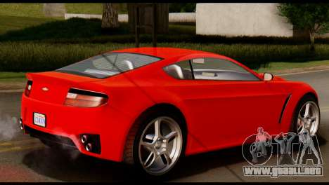 GTA 5 Dewbauchee Rapid GT Coupe [IVF] para GTA San Andreas vista posterior izquierda