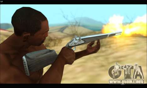 GTA V Musket para GTA San Andreas sucesivamente de pantalla