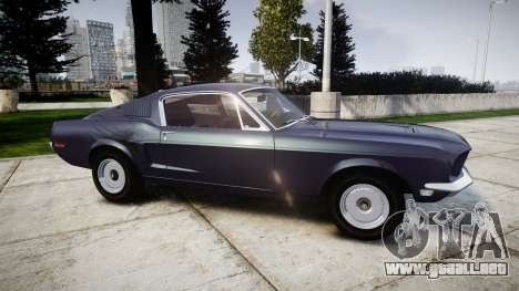 Ford Mustang GT Fastback 1968 Auto Drag III para GTA 4 left