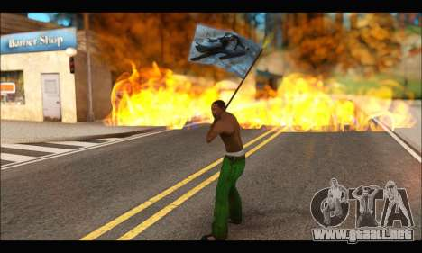 Flag Spiderman Noir para GTA San Andreas sucesivamente de pantalla