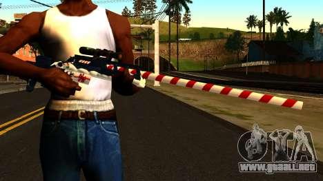Año Nuevo Rifle De Francotirador para GTA San Andreas tercera pantalla