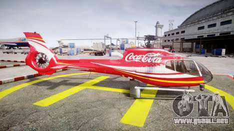 Eurocopter EC130 B4 Coca-Cola para GTA 4 left