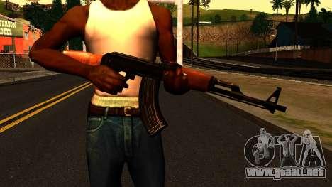 AK47 from Chernobyl 3: Underground para GTA San Andreas tercera pantalla