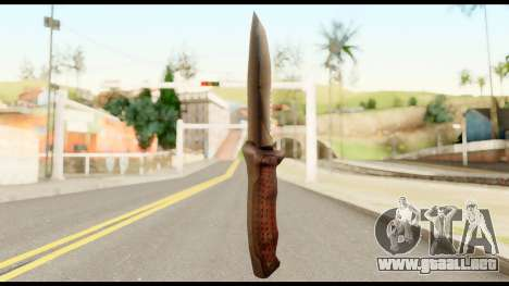 BB Cqcknife from Metal Gear Solid para GTA San Andreas segunda pantalla