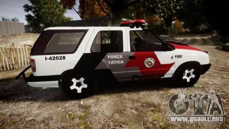 Chevrolet Blazer 2010 Tactical Force [ELS] para GTA 4 left