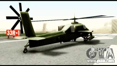 Beta Hunter para GTA San Andreas vista posterior izquierda