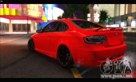 BMW M3 GTS 2010 para la vista superior GTA San Andreas