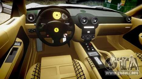 Ferrari 599 GTB 2006 Hamann para GTA 4 vista hacia atrás