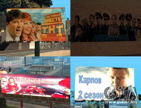 Reemplazo de publicidad (banners) para GTA San Andreas sucesivamente de pantalla