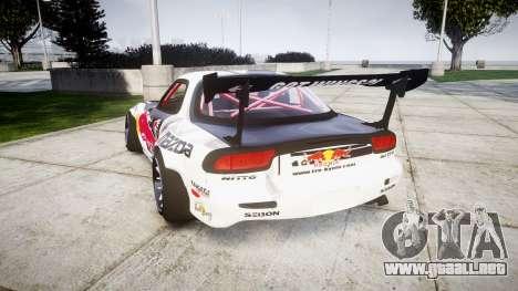 Mazda RX-7 Rocket Bunny MadMake para GTA 4 Vista posterior izquierda