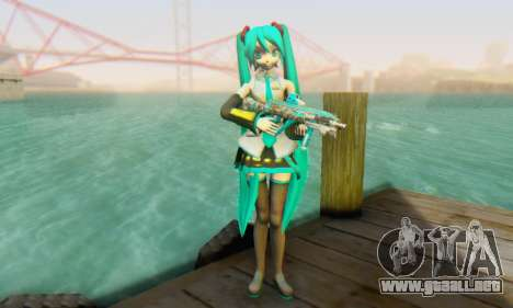 Hatsune Miku Dreamy Theater para GTA San Andreas segunda pantalla