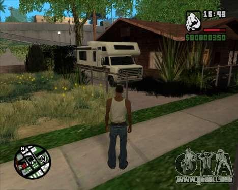Camping Modificación - Versión Beta para GTA San Andreas sucesivamente de pantalla