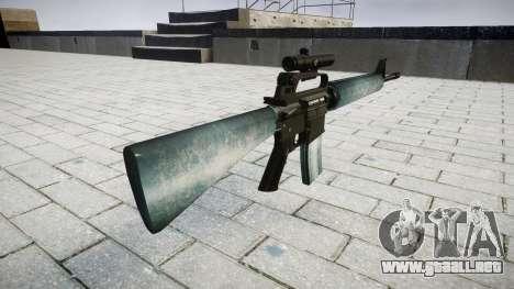 El rifle M16A2 [óptica] heladas para GTA 4 segundos de pantalla