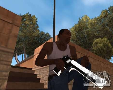 White Chrome Gun Pack para GTA San Andreas séptima pantalla