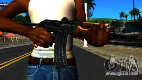 Brillante AKS-74U v1 para GTA San Andreas tercera pantalla
