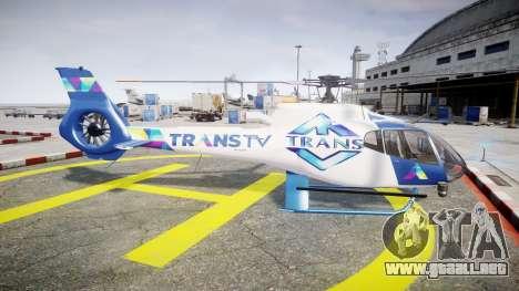 Eurocopter EC130 B4 TRANS TV para GTA 4 left