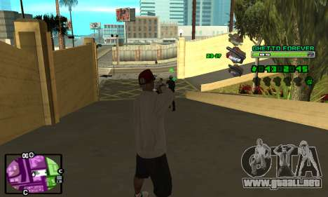 C-HUD Ghetto 4ever para GTA San Andreas segunda pantalla