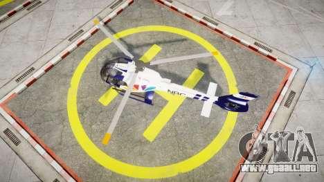 Eurocopter EC130 B4 NBC para GTA 4 visión correcta