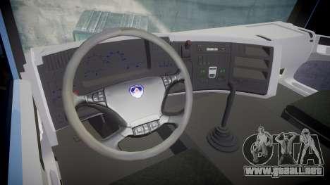 Scania 94G 300 para GTA 4 vista hacia atrás