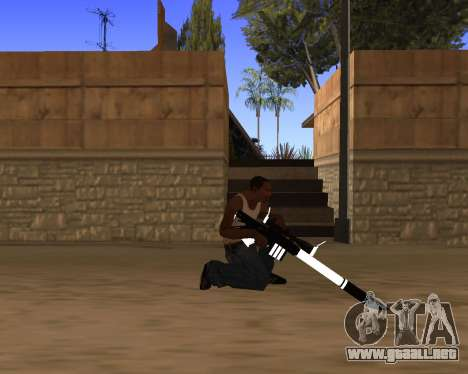 White Chrome Gun Pack para GTA San Andreas undécima de pantalla