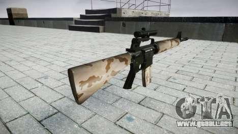 El rifle M16A2 [óptica] sahara para GTA 4 segundos de pantalla