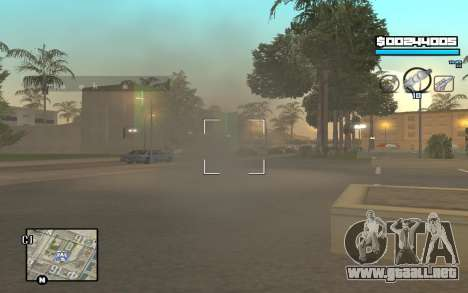 Blue C-HUD para GTA San Andreas sucesivamente de pantalla
