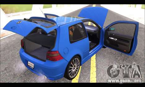 VW Golf R32 - Stock para GTA San Andreas vista hacia atrás