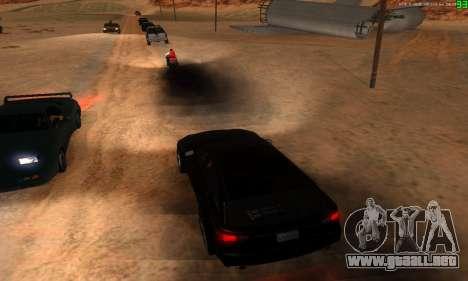 Nuevas rutas de transporte para GTA San Andreas octavo de pantalla