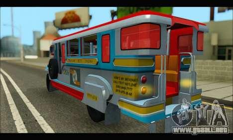 Jeepney Legacy para la visión correcta GTA San Andreas