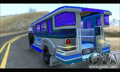 Light Jeepney para la visión correcta GTA San Andreas