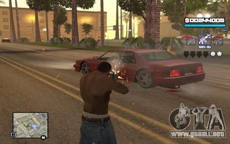 Blue C-HUD para GTA San Andreas segunda pantalla