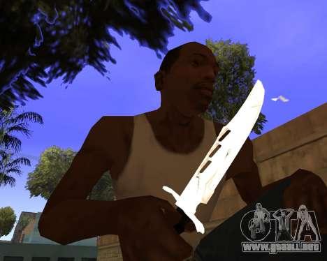 White Chrome Gun Pack para GTA San Andreas twelth pantalla