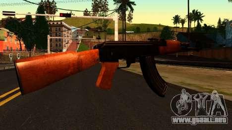 AK47 from Chernobyl 3: Underground para GTA San Andreas segunda pantalla