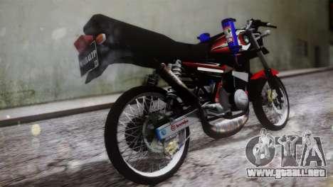 Yamaha RX King para GTA San Andreas left