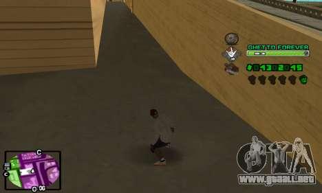 C-HUD Ghetto 4ever para GTA San Andreas