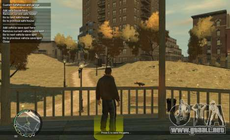 Custom Safehouse and Garage Script v1.1 para GTA 4