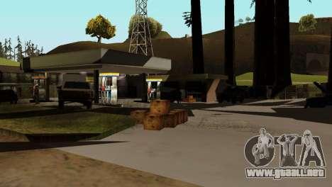 La recuperación de las estaciones de San Fierro para GTA San Andreas sucesivamente de pantalla