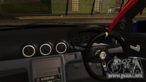 Nissan Silvia S15 DC Hunter para GTA San Andreas vista posterior izquierda