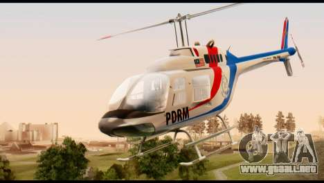 Malaysian Polis Helicopter Eurocopter Squirrel para GTA San Andreas