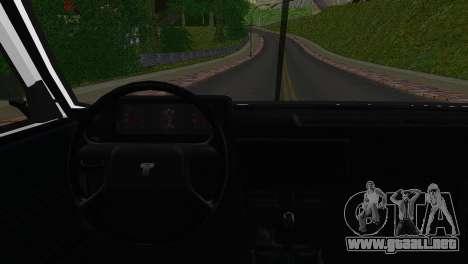 Tofas Sahin para GTA San Andreas vista posterior izquierda