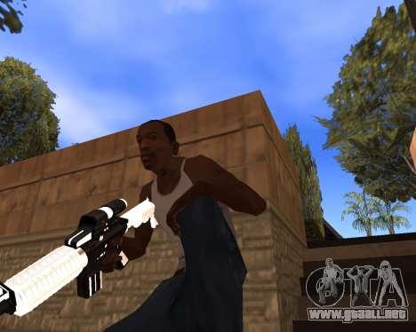 White Chrome Gun Pack para GTA San Andreas novena de pantalla