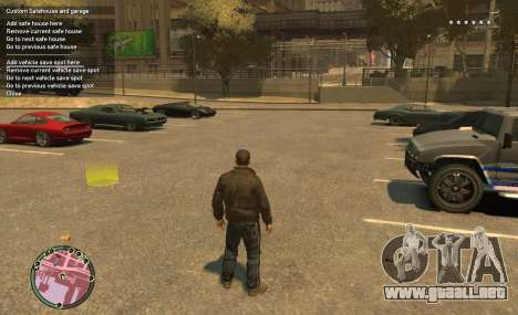 Custom Safehouse and Garage Script v1.1 para GTA 4 segundos de pantalla