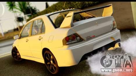 Mitsubishi Lancer Evo IX para GTA San Andreas left