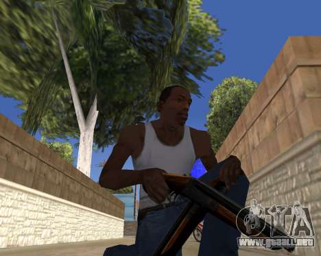 HD Weapon Pack para GTA San Andreas sucesivamente de pantalla