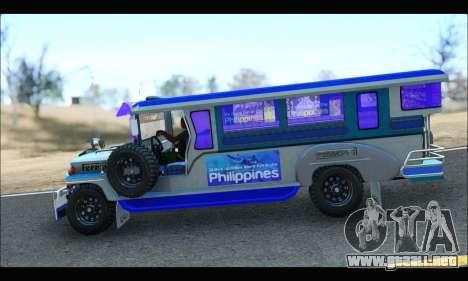 Light Jeepney para GTA San Andreas vista posterior izquierda