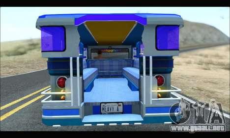 Light Jeepney para GTA San Andreas vista hacia atrás
