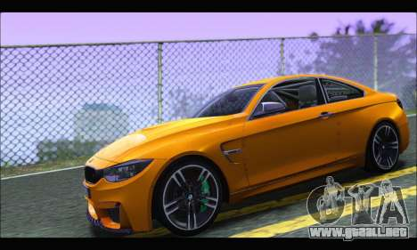 BMW M4 F80 Coupe 1.0 2014 para GTA San Andreas left
