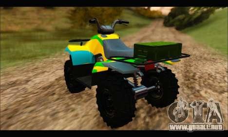 ATV Color Camo Army Edition para GTA San Andreas left